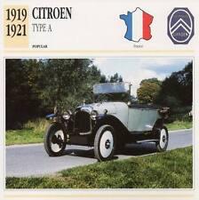 1919-1921 CITROEN Type A Classic Car Photograph / Information Maxi Card