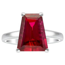 Indian Ruby 925 Sterling Silver Ring s.7.5 Jewelry 7393
