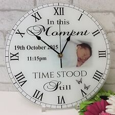 Personalised Gift - Baby Photo Clock / Upload Your Photos / Change The Text