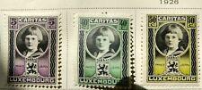 Luxembourg Scott # BB15-B19 and B30-B34 mint hinged 1926-1928