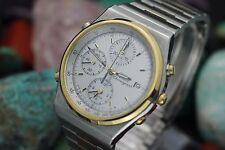 Vintage SEIKO Quartz Alarm Chronograph 7T32 Stainless Steel Men's Watch
