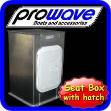 Boat Seat box with Hatch 350L x 350W x 600H Unpainted