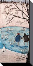 SAM TOFT (WINTER)  BOX CANVAS ART PRINT 100cm X 50cm