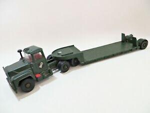 CORGI GS10 MAJOR 'MACK ARMY/MILITARY CENTURION TANK TRANSPORTER'. VINTAGE.