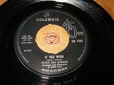PETER AND GORDON - IF YOU WISH - TRUE LOVE WAYS  / LISTEN - POP
