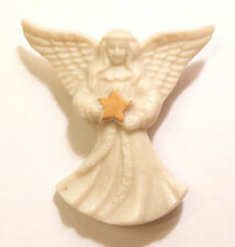 Lenox Porcelain Christmas Angel Holding Star Brooch Pin
