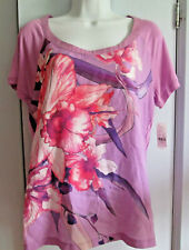 NEW Womens Medium (Fits Like L) New York & Company NY&C Spring Floral Top $32