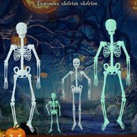 Künstlicher leuchtender Skelett-Dekoration-Halloween-Party-furchtsamer Schädel