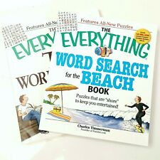 Lot of 2 NEW Everything Word Search Books Beach TV Puzzles Games Timmerman Gift