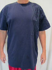 RARE Nike Air Jordan Blue Cotton T-Shirt Air Jordan Embroidered Sleeve Size XXL