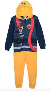 Fireman Sam Boys Costume Hoodie Pyjamas Onesie not gerber age 5