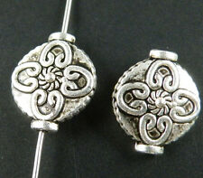 30pc Tibet Silver Flower Design  Spacers 15x13x5.5mm zn3232