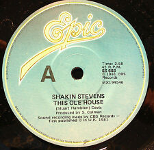 SHAKIN STEVENS 45RPM THIS OLE HOUSE MADE IN AUSTRALIA 1981