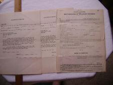 ca1950s Brotherhood of Railroad Trainmen application & West.MD RR Deduction form