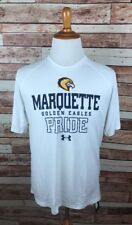Marquette University LARGE White Workout Lightweight UA Short Sleeve T-Shirt NEW