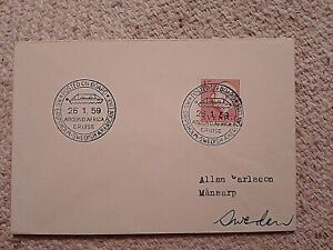 SWEDEN FIRST DAY COVER 1959 AROUND AFRICA CRUISE