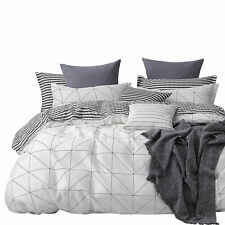 NEW Gioia Casa Charlie 100% Cotton Stylish Soft Reversible Quilt Cover Set Multi