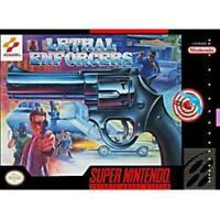 Lethal Enforcers Super Nintendo Game SNES Used