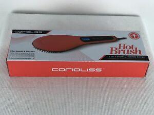 Corioliss Hot Brush Orange HQT-906 3-in-1 Detangles Straightens Massaging