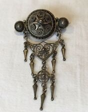 Vintage 830 Silver Marius Hammer Filigree Pin Brooch Norway