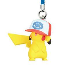 Pokemon Netsuke Mascot 20th Movie Ver. PIKACHU UNOVA HAT Strap Figure Tomy Phone