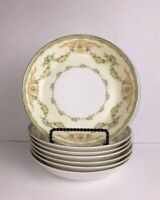 Meito TRIANON Hand Painted China in Japan Cereal Soup Bowls Blue Backstamp (7)