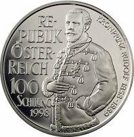 Österreich 100 Schilling 1998 Kronprinz Rudolf Schicksale im Haus Habsburg