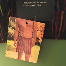 Jockey Full Cut Multi Striped On Black Boxer Shorts Size Large - New With Tags