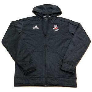 Adidas NCAA N.C. State Wolfpack Full-Zip Hoodie Black/Red/White CY7078