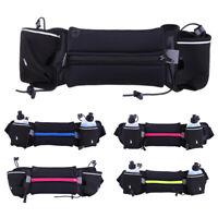 Men Women Reflective Adjustable Running Waist Bag Sports Belt Water Bottle GBDA