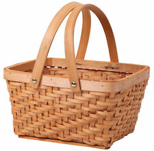 New Vintiquewise Rectangular Wood-chip Picnic Basket with Drop Handles,QI003056