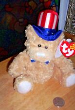 2006 Ty Beanie Babies ~ Independence Bear with Heart Tag and Tush Tag