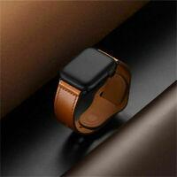 Retro Echtleder Watch Band Classic Armband für iWatch 4 Mode 2 Serie A9E3