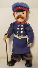 Antique Berliner Cloth Doll Policeman Bendable 1920s Collectible Imperial Police