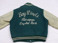 * Chevignon College Baseball chaqueta * Bay winds Crystal Rock * vintage * GR: l * rareza