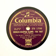 "HENRY HALL BBC DANCE ORCHESTRA ""Broken-Hearted Clown"" (E+) COLUMBIA FB-1708 [78]"