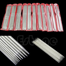 """New 11sizes 55Pcs 7.9"""" 20cm Double Pointed Stainless Steel Knitting Needles Tool"""