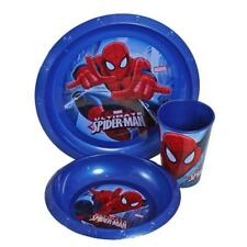 Children Kids Marvel Spiderman 3piece Picnic Lunch Dinner Set Tumbler Bowl Plate