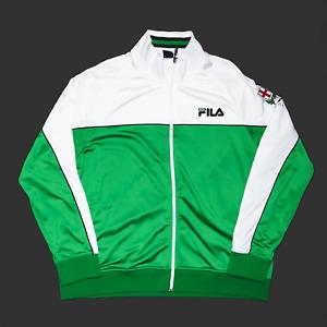 Vintage FILA Sport Green Regular 90s Track Jacket Mens 2XL