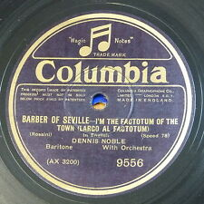 """78rpm 12"""" DENNIS NOBLE i`m the factotum / tempest of the heart"""
