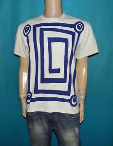 tee-shirt DI ROSA vintage en coton gris HANES taille 38/40 ou M