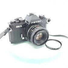 PETRI GX-1 35mm Film SLR Camera with PETRI 50mm 1:2 Lens TESTED #695