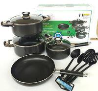 8pc Non Stick Set Sauce Pan Casserole Induction Pot Frying Pan & Cooking Spoons