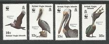 VIRGIN ISLANDS SG692-5 THE 1988 AQUATIC BIRDS WILDLIFFE SET OF 4 FRESH MINT
