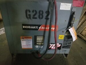Hobart Accu-Charger, 36 volt. 750 Amp Hours, 208/240/480 Volts, 3 Phase 60 Hz