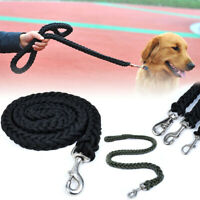 Nylon Dog Harness Leash Lead Heavy Duty Large Training Braided Rope Adjustable