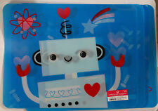 Set of 4 Lenticular 3D Heavy Duty Plastic Placemat Robot Hearts VALENTINES