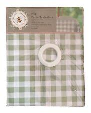 Vert à Carreaux Nappe PVC Patio Extérieur Table Rectangulaire Housse 132x178cm