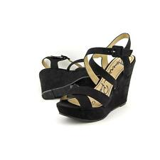 Buckle High Heel (3-4.5 in.) Synthetic Sandals for Women