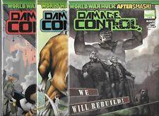 WORLD WAR HULK AFTERSMASH DAMAGE CONTROL #1-#3 SET (NM-)